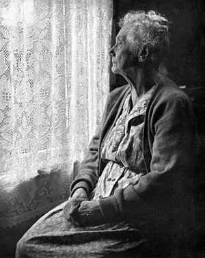 382px Elderly Woman B W image by Chalmers Butterfield