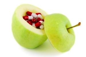 Eple med piller